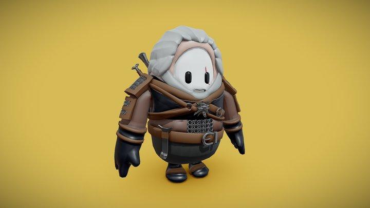 Fall Guys - Geralt of Rivia Skin 3D Model