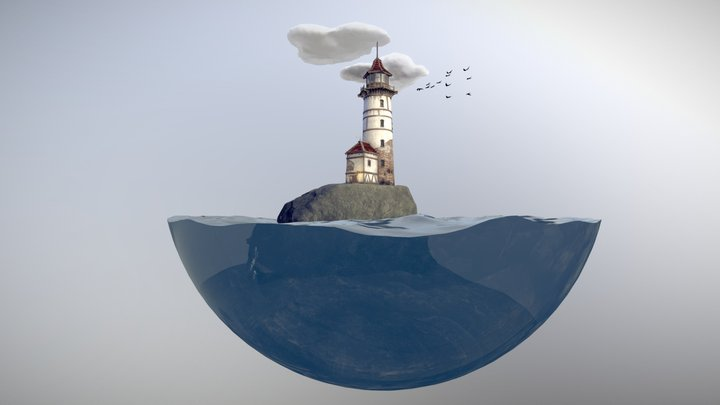 Lighthouse Animated 3D Model