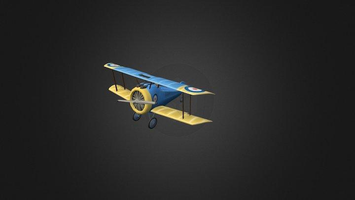 Plane LeRhone UNFINISHED 3D Model