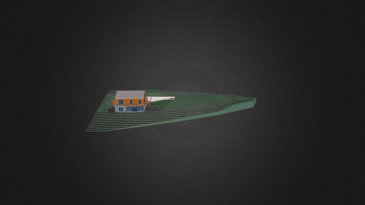 Maison sur terrain en pente 3D Model