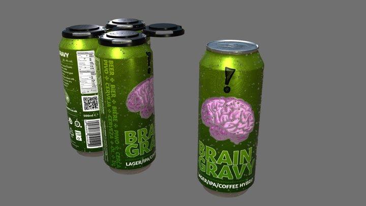 'Brain Gravy' Lager/IPA/Coffee Hybrid :P 3D Model