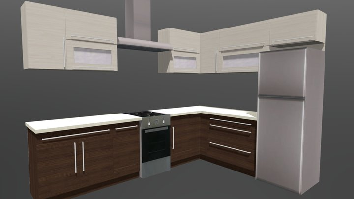Kitchen cabinet 3 3D Model