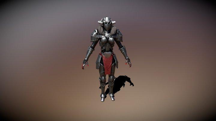 Female Knight Model 3D Model
