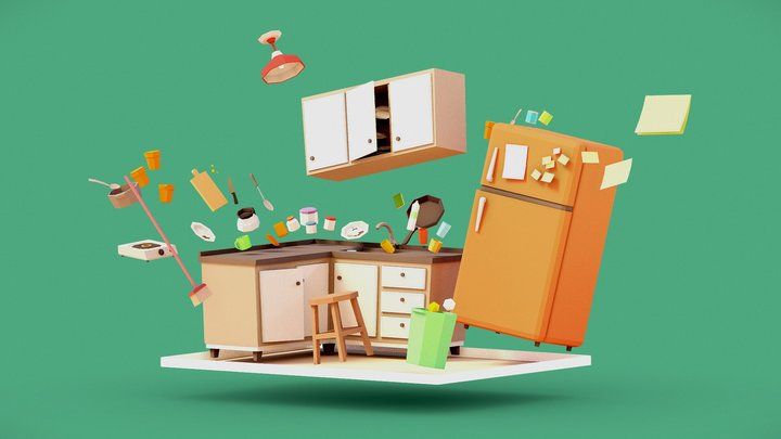 KITCHEN | POSSESSIONS GAME | APPLE ARCADE 3D Model