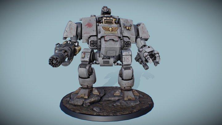 W40k space wolf dreadnought redemptor 3D Model
