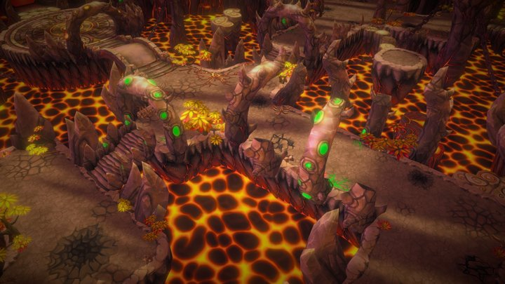 Fantasy Demon Caves V2 3D Model