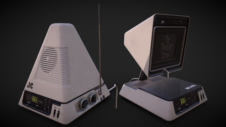 "JVC 3100 TV/Radio ""VideoPod"" 3D Model"