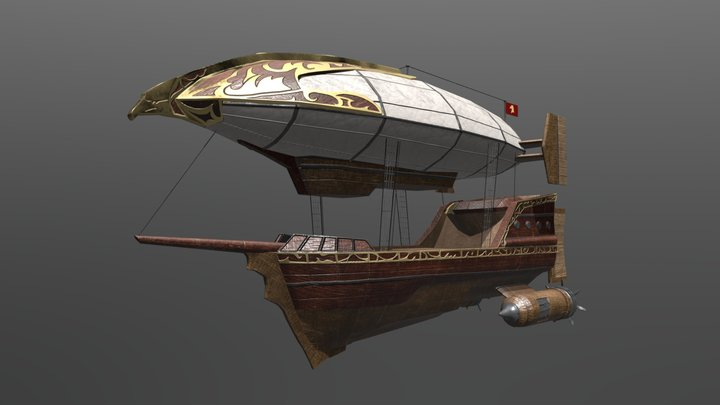 Guardian of the Sky | Galleon Ship 3D Model