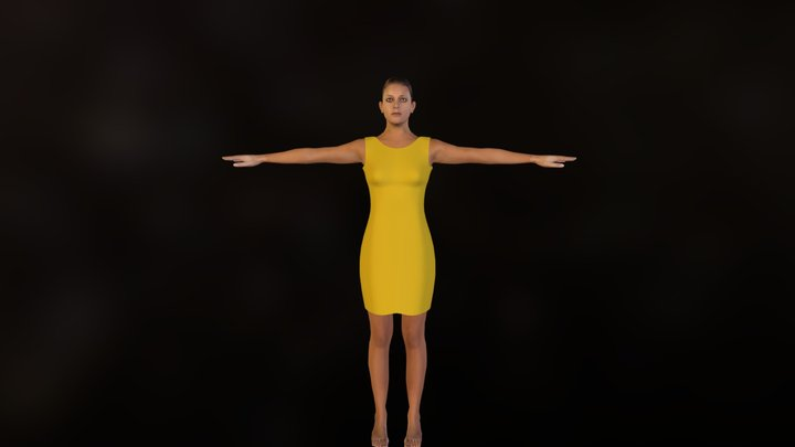 deno_clothed_yellow.zip 3D Model