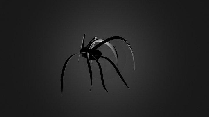 Halftone Spider 3D Model
