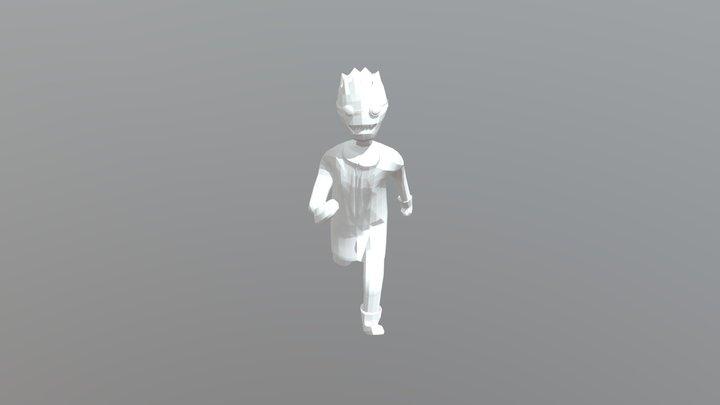 Character Running 3D Model