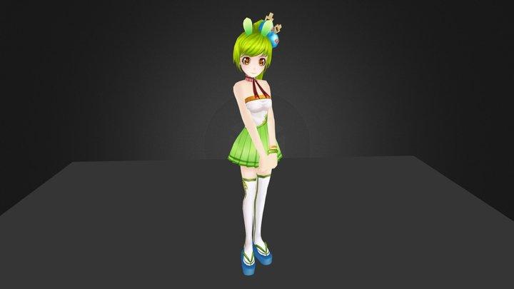 chongniang-anime character animation 3D Model