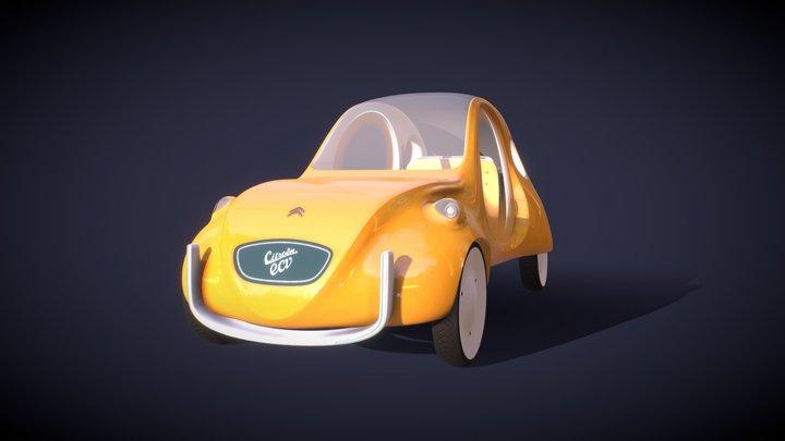 Citroën eCV concept car 3D Model