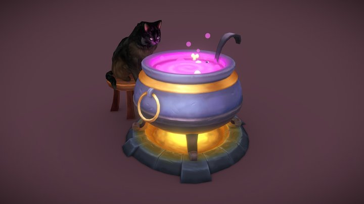 The Witch's Assistant 3D Model