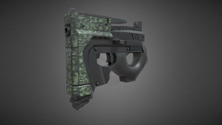 Gatter M-2 Pistol 3D Model