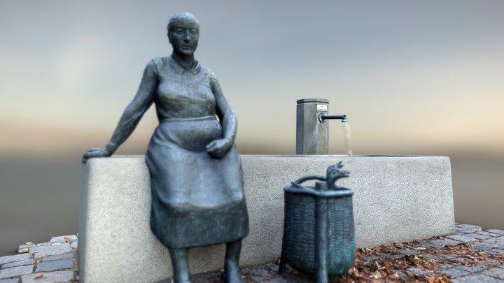 Trogbrunnen am Viehmarkt,  Neumarkt, DE 3D Model