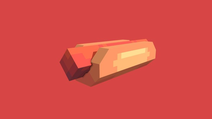 Hotdog - Blockbench 3D Model
