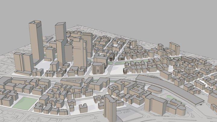 Rotchild Blvd. - Tel Aviv 3D Model