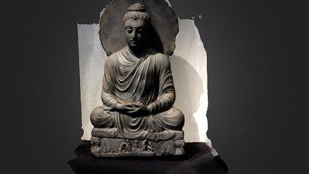 Kushan Buddha 3D Model