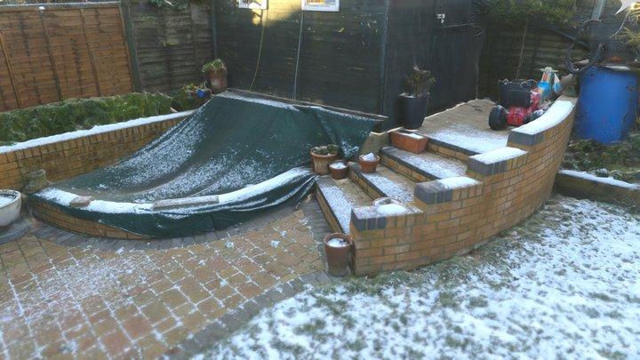 Garden Corner - Snow Scene 3D Model