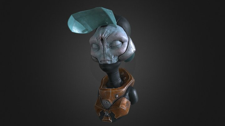 Game Asset Q2 - Alien 3D Model