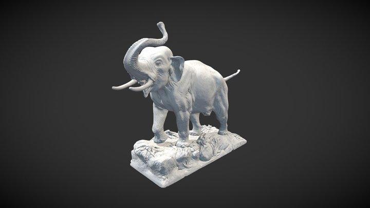 Maquette préparatoire de l'éléphant d'Asie 3D Model