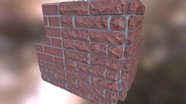 ASU Brick Corner 3D Scan 3D Model