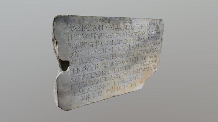 Строительная надпись из Фанагории. 220 г. н.э. 3D Model