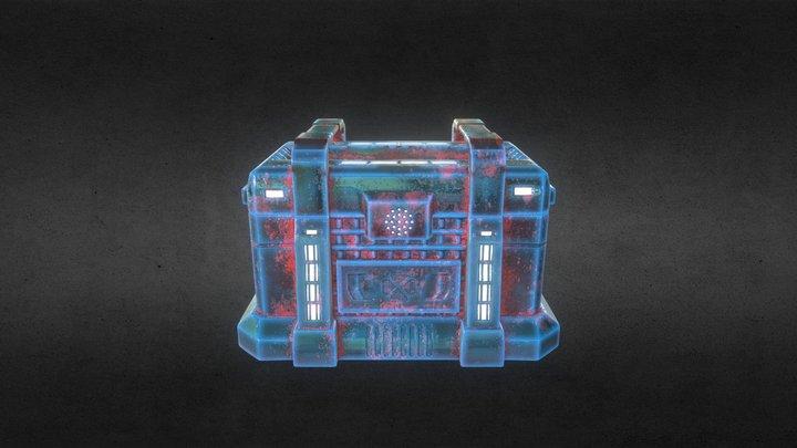 Sci-Fi Chest 3D Model
