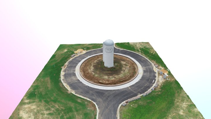 2019-06-09 Snowden Silos Simplified 3d Mesh 3D Model