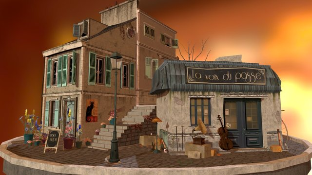 City_Scene BURDEAUX 3D Model