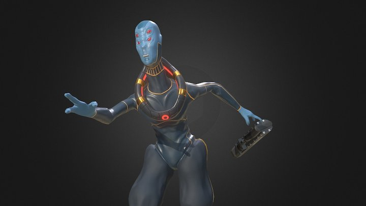 The Scout (Alien) Posed 3D Model
