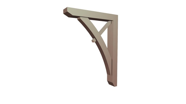 Wood Bracket 13T1 32 x 44 3D Model