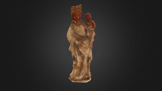 """Virgen con Niño """"La primitiva"""" 3D Model"""