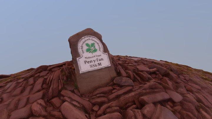 Pen y Fan Mountain Peak 3D Model