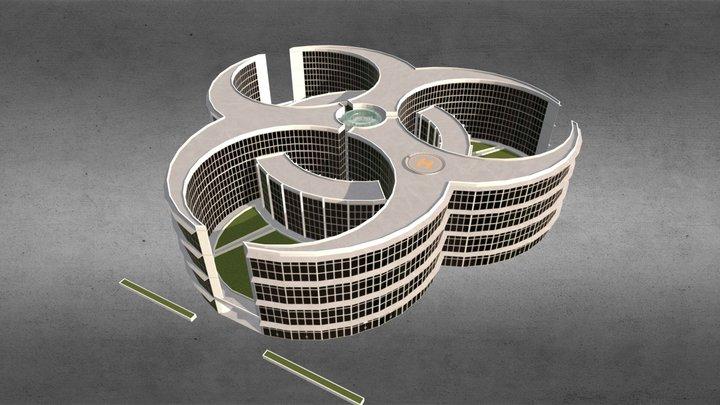 Biohazard Research Center - SciFi Medic-Building 3D Model