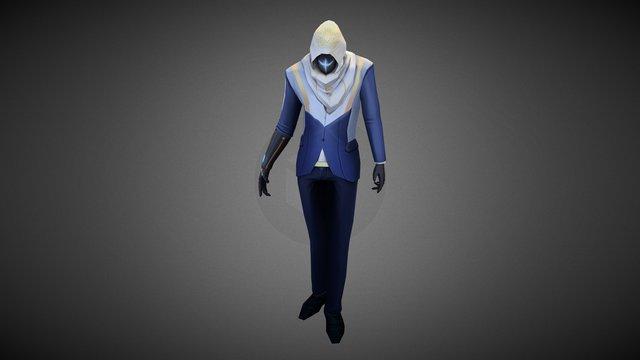Sci-fi Assassin 3D Model