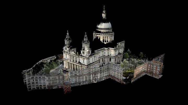 St Paul's Cathedral - 3D Point Cloud (E,C) 3D Model