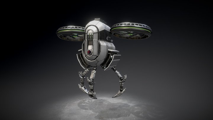 Buster Drone 3D Model