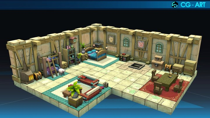 House of Amakna Castle_Dofus 3D Model