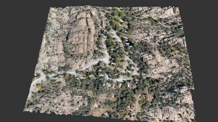 Point of Rocks Upper Loop Mavic 2 Pro Model Test 3D Model