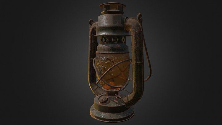 Lantern US Army 3D Model