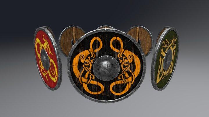 Viking Shield Set 3D Model