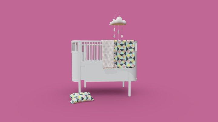 Sebra bed 3D Model