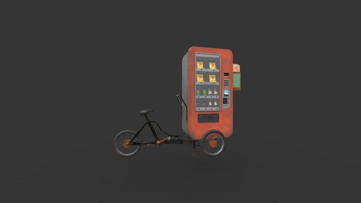 Machine Distributrice Mobile 3D Model