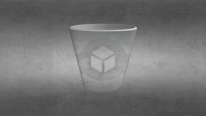 Glass Lowpoly 3D Model