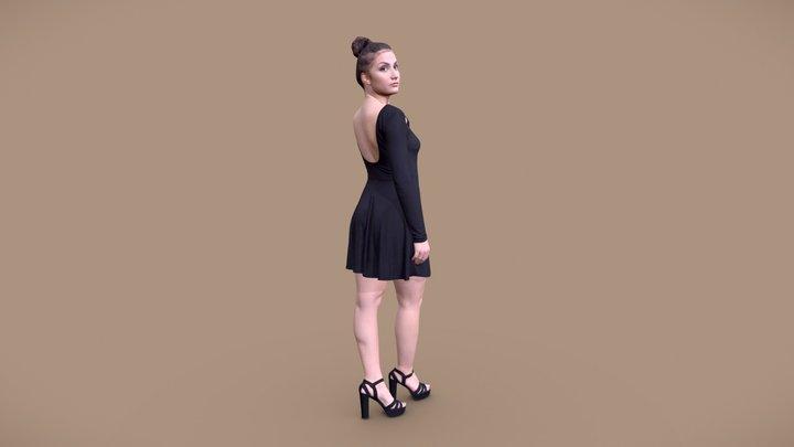 Sheona 10451 - Standing Dress Woman 3D Model