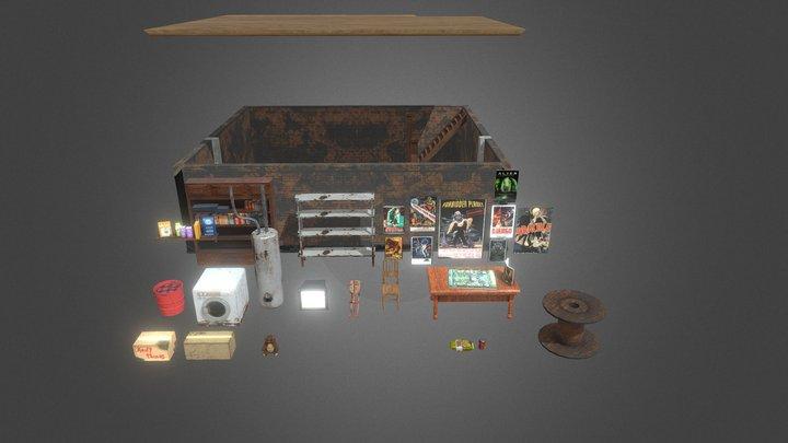 Basements Props - First Pack :D 3D Model