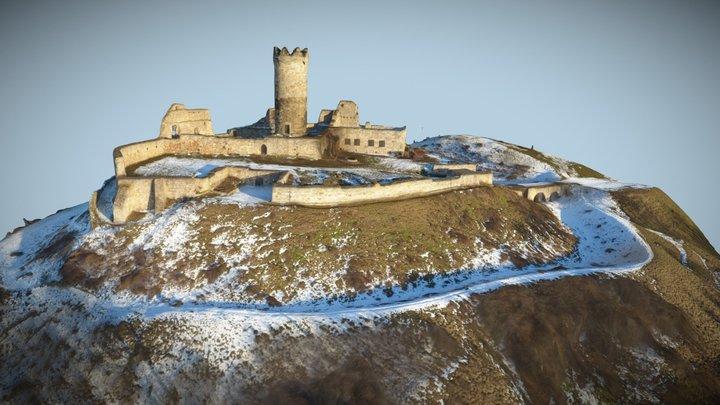 Die Mühlburg im Winter 3D Model