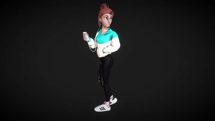 Sun the Music Girl 3D Model